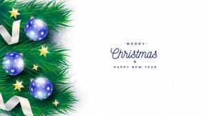优雅的圣诞树横幅模板免费Psd